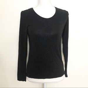 Eileen Fisher Jewel Neck Viscose Long Sleeve Tee